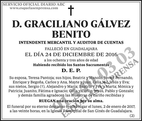 Graciliano Gálvez Benito